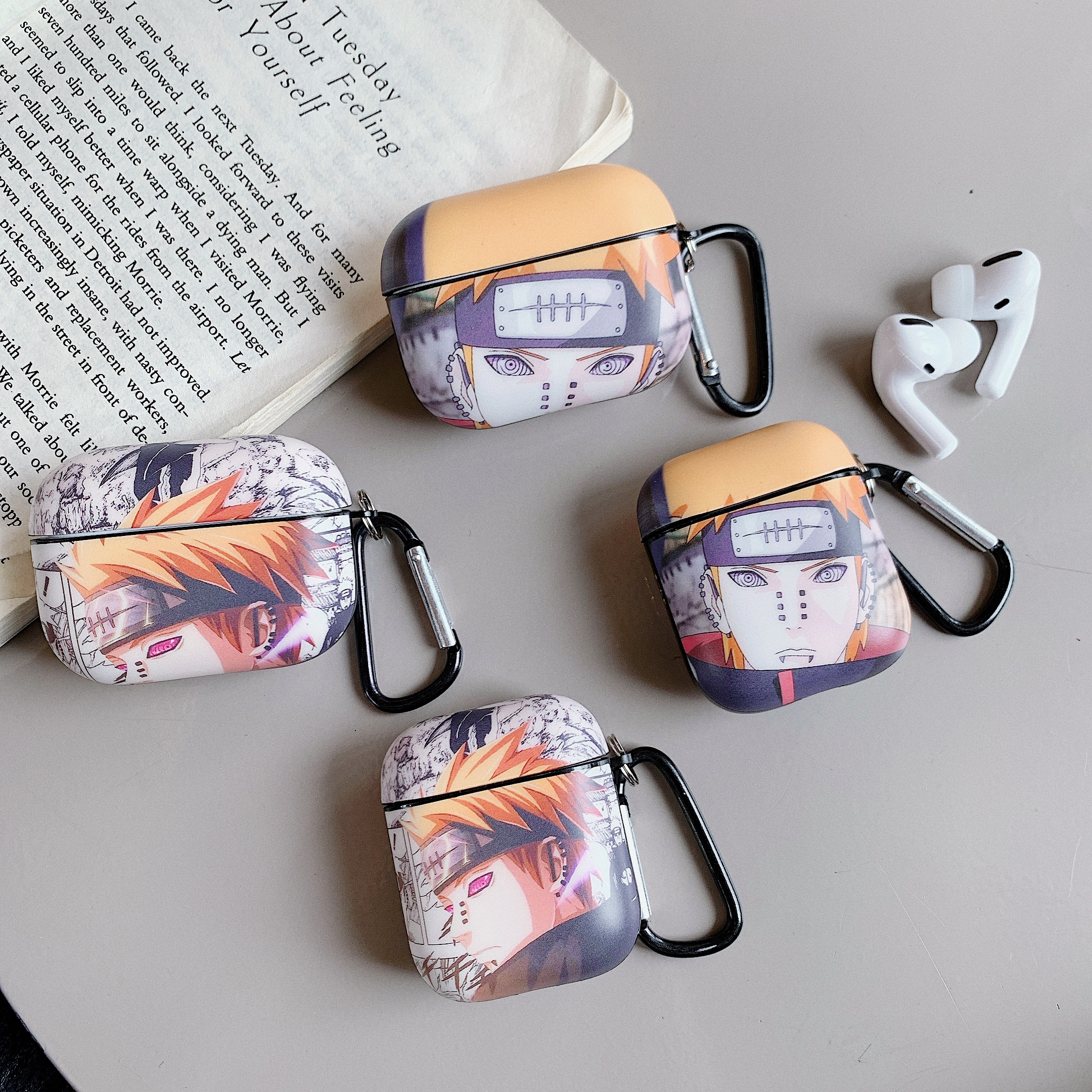 Luxury Cartoon Naruto Pain For Apple AirPods 1 2 Pro Charging Soft TPU Cover Wireless Bluetooth Earphone Case