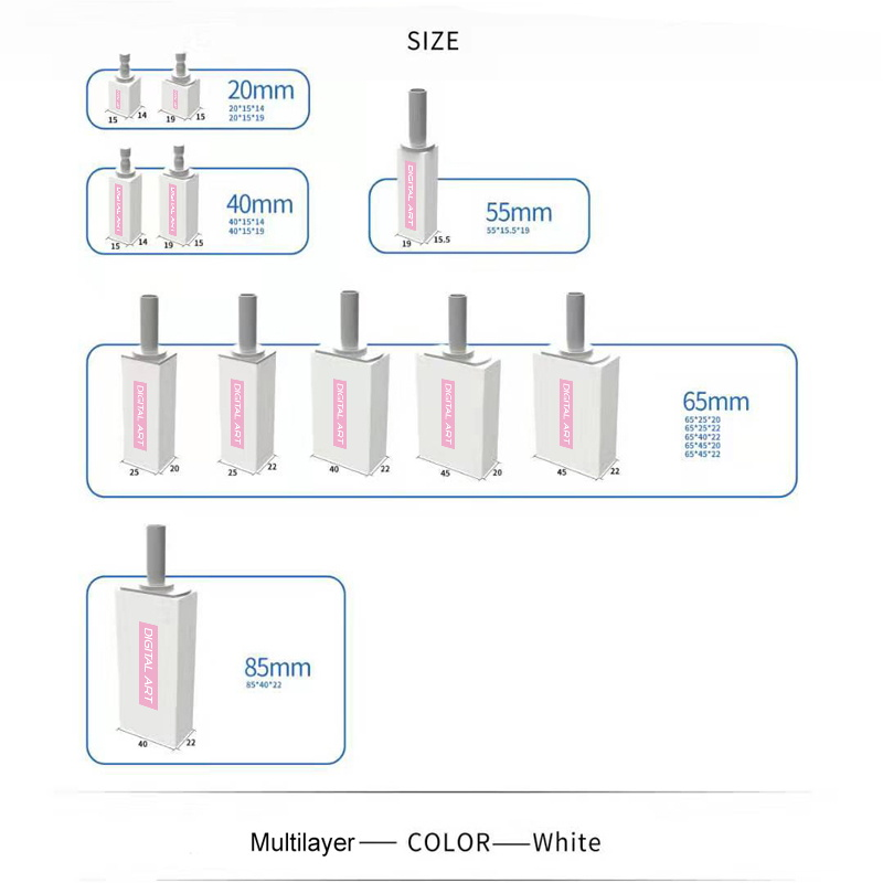 stml65 40 a1 d4 2 pces digitalart super alta translucidez blocos de zirconia dental multicamadas para