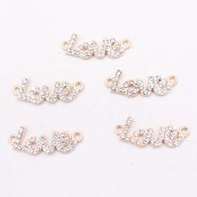 10 шт Стразы * love tag подвески из сплава модное ожерелье браслет
