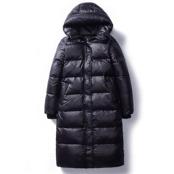 2020 coréen hiver vers le bas coton vestes femmes longues Parkas mince à capuche chaud hiver manteaux femme grande taille noir pardessus V1162 1