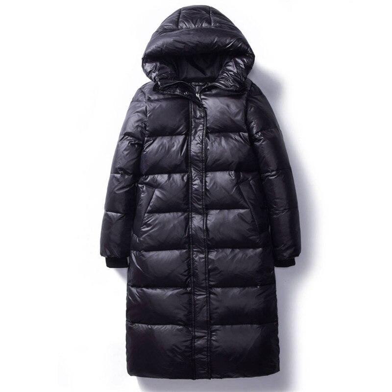 2020 корейский Зимний пуховик из хлопка женские длинные парки тонкие с капюшоном теплые зимние пальто для женщин размера плюс черные пальто ...