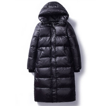 2020 Korean Winter Down Cotton Jackets Women's Long Parkas Slim Hooded Warm Wint