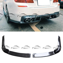 OLOTDI дизайн psm Автомобиль Стайлинг из настоящего углеродного волокна заднего бампера разветвители на плоской подошве для BMW F10 5 серии M5 пакет