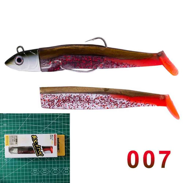 Hunthouse black minnow jig head fishing soft lure worm hook 100mm 25g new fishing baits soft pike lure swimbait muskies