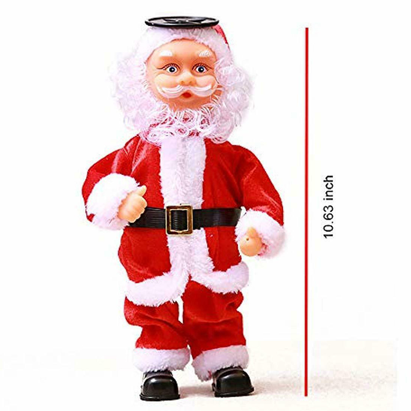 2019 New Christmas Santa Claus Dancing Inverted Electronic Toy Doll Xmas Decor Ornament