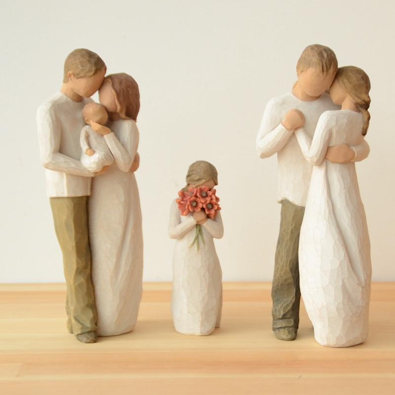 Nordic Resin Family Statue Creative Eternal Love Figurine Home Decoration Accessories For Livingroom Desktop Miniature Figurines
