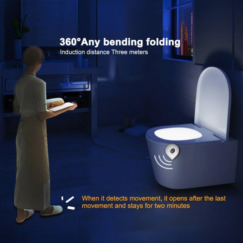 Toilet-Light Night-Lamp Motion-Sensor LED Bathroom Magilife Backlight Household WC 8-Colors