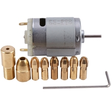1Pc Dc 12V 500Ma Mirco Motor With 6Pcs 0.5-3.2Mm Drill Collet Electric Pcb Tool Set
