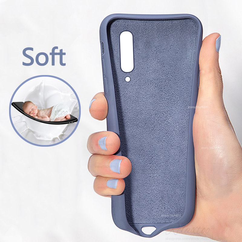 For <font><b>Xiaomi</b></font> <font><b>Mi</b></font> <font><b>A3</b></font> Case Phone Bumper Luxury Soft Liquid Silicone Protective Back Phone Case For <font><b>Xiaomi</b></font> mia3 A 3 lite <font><b>Cover</b></font> Funda image