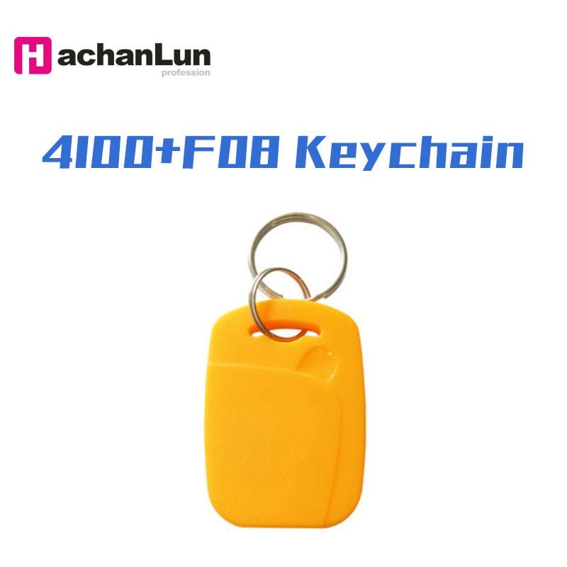 5PCS 4100 + F08 RFID Dual Chip 125KHZ 13.56MHZ  Smart NFC IC + ID Composite Keychain EM4100 TK4100 + S50 Fudan Keychain