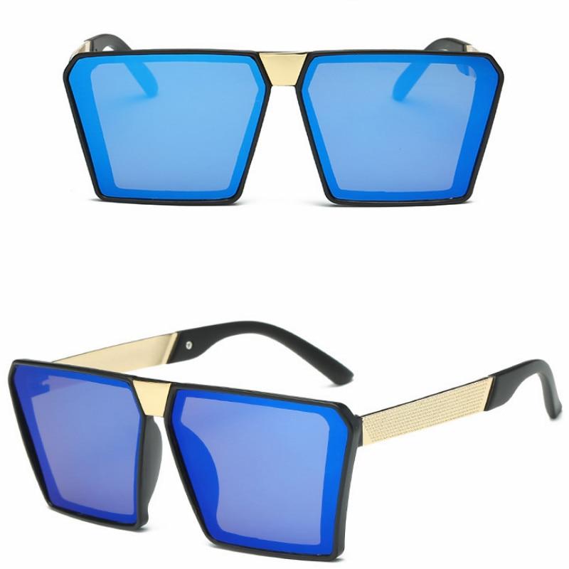 Купить женские солнцезащитные очки с полуметаллической оправой в стиле
