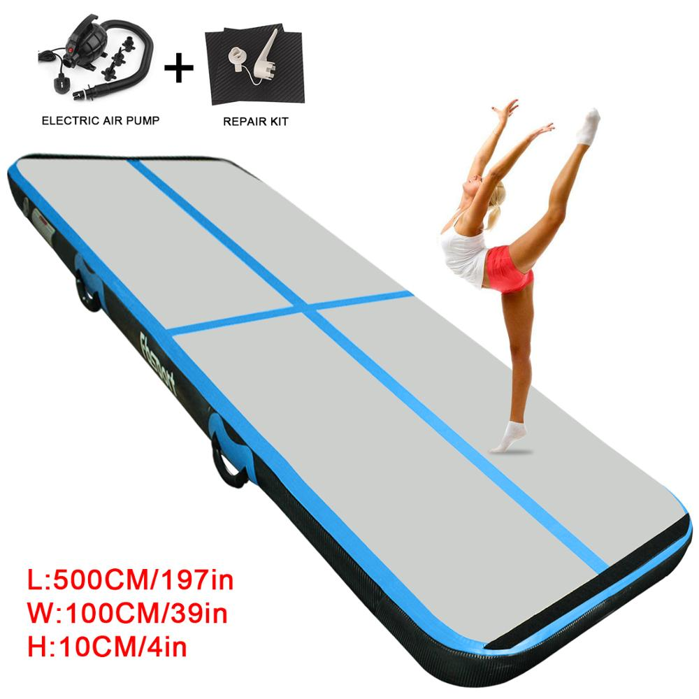 5m*1m*0.2m Inflatable Air Track Brushed Tumbling Mat Gymnastics Airtrack For Practice Gymnastics,Tumbling,Parkour, Home Floor