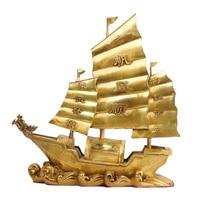 MOZART Copper A Smooth Sailing Dragon Boat Ornaments Crafts Loong Ship Shop Company Opening Gifts Smooth Sailing