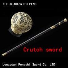 Raccords en bronze en acier ébène, avec épée à manche de verrouillage/épées à tête ronde/Tang Dao chinois/couteau japonais Toyo