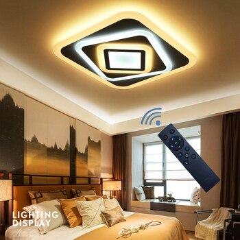 Moderne slaapkamer plafond verlichting AC90-260V Indoor Vierkante Acryl lamp ultradunne LED restaurant Armaturen High 5cm gratis verzending