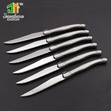 Jaswehome 6 шт. Набор ножей для стейка из нержавеющей стали столовый нож laguiole набор ножей из нержавеющей стали