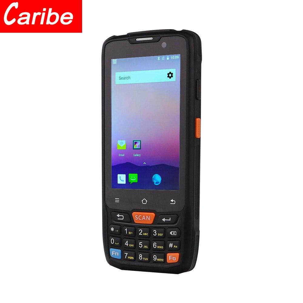 Caribe PL-40L 4g áspero android pda tablet industrial com varredor do laser do leitor 1d do rfid da longa distância
