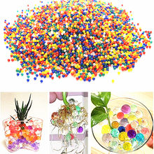 1000pcs/bag Hydrogel Pearl Shaped Green Crystal Soil Water Beads Mud Grow Ball Wedding Growing Bulbs 5ZSH760-1
