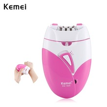 Kemei Woman's Epilator USB Charge Hair Removal Machine Electric Rechargeable Lad