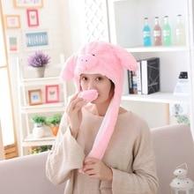 Funny Hat Moving-Ears Cute Headgear Party-Props Christmas Warm Halloween Cartoon Soft