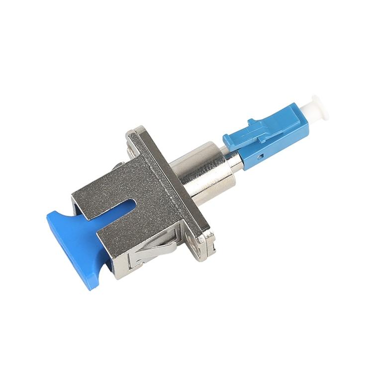 2pcs LC/UPC(Male)-SC/UPC(Female) Single-mode Fiber Optic Adaptor-Hybrid Mating Adapter