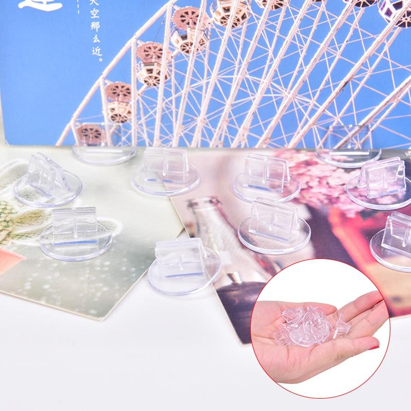 10 pièces cartes en plastique support Unique accessoires fixes transparents pour cartes de jeux de société en papier