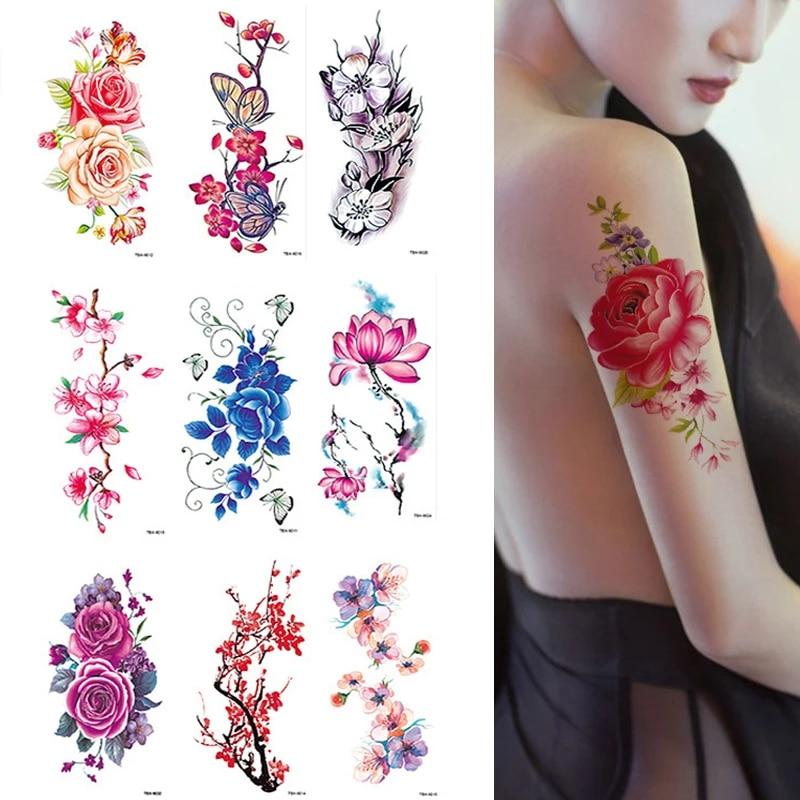 Tattoo unterarm frauen rosen