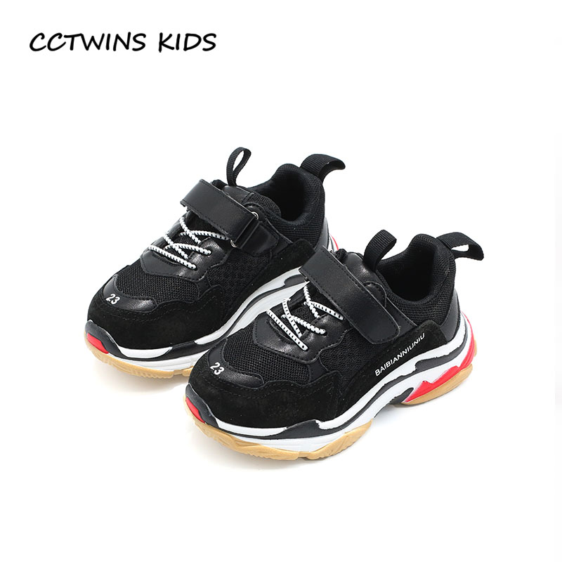 CCTWINS KIDS 2019 Spring Children Black Casual Shoe Baby Girl Fashion Sport Sneaker Toddler Boy White Mesh Trainer F2179