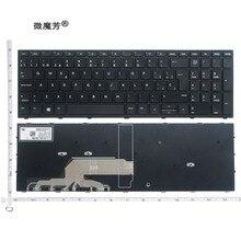 Novo teclado de laptop us/sp/reino unido, teclado para hp probook 450 g5 455 g5 470 g5, teclado preto e inglês retroiluminado