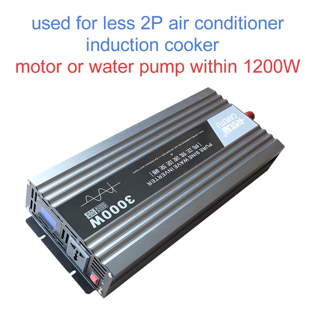 Überlegene sustain 3000W reine sinus-wechselrichter solar inverter 12V 220V dc zu ac inverter mit ideal fehler fordert display