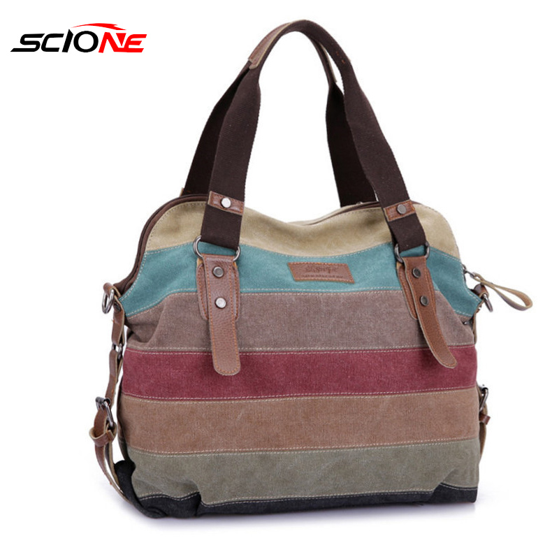 Scione  Women Canvas Shoulder Sport Bag Fashion Messenger Sport Gym Bag Storage Women Fitness Yoga Training Crossbody Handbag