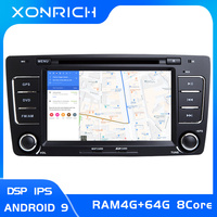 IPS DSP AutoRadio 2 Din Android 9.0 Car DVD Player For Skoda Octavia 2 3 A 5 A5 Yeti 2009 2013 GPS Navigation Multimedia Stereo