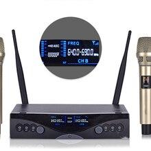 Беспроводной микрофон UHF one drag, два беспроводных микрофона, домашний микрофон для караоке, речи, обучения, микрофон с зажимом