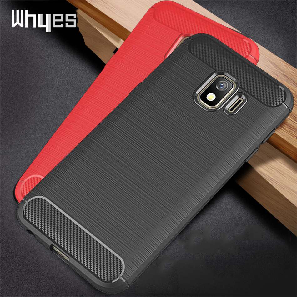 Silicone Case For Samsung Galaxy J2 Core J2 2018 ShockProof Fitted Carbon Fiber Soft TPU Cover Case For Samsung J2 Core J2 Pure