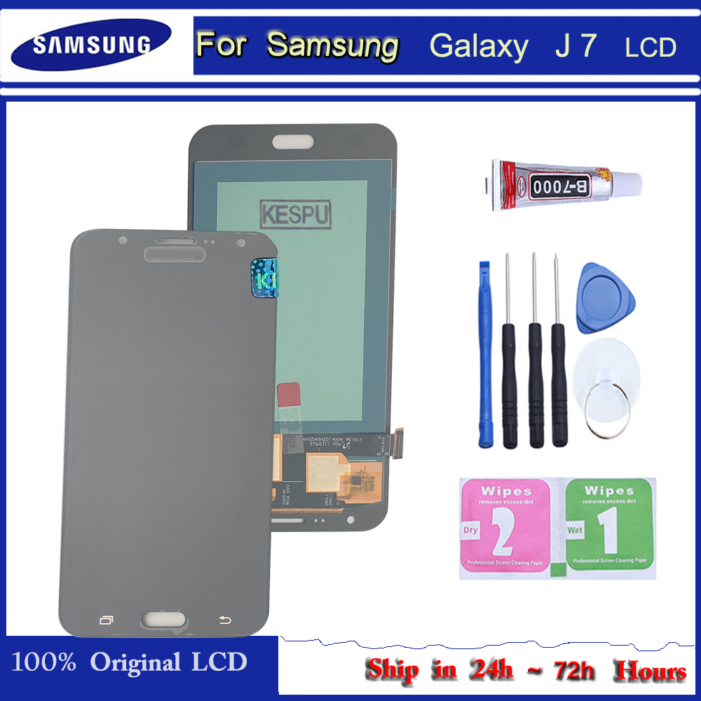 Lcd original para samsung galaxy j7 2015 j700 j700m j700f display lcd tela de toque digitador assembléia