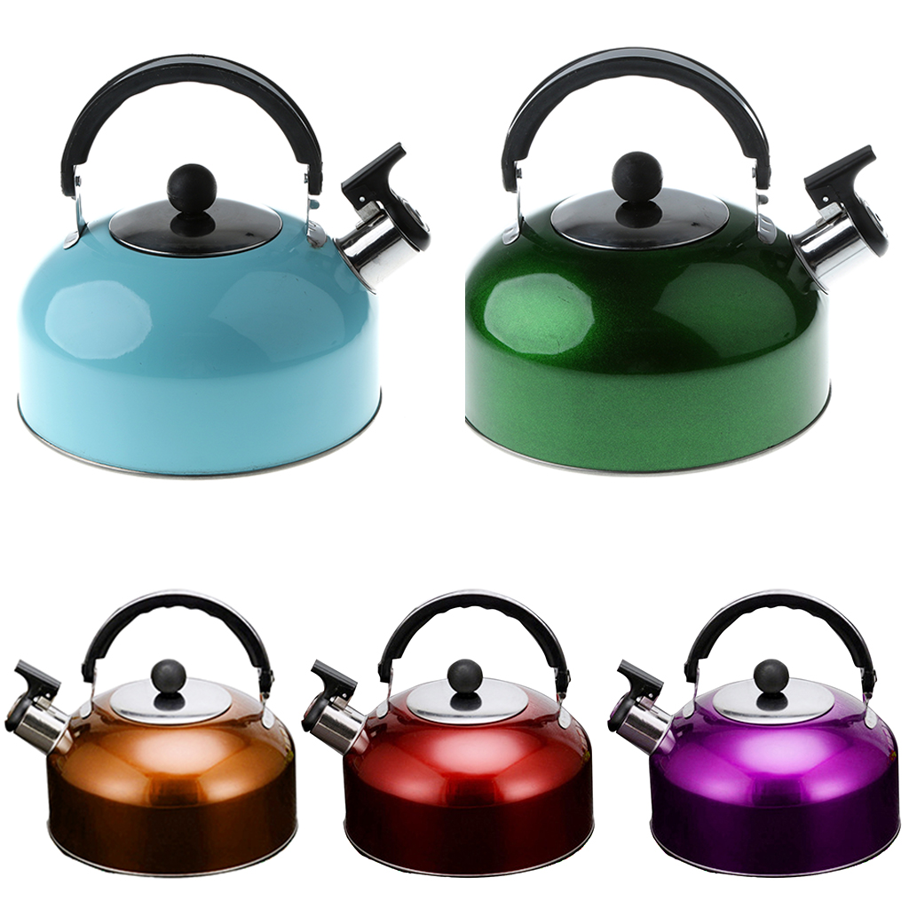 Outdoor Whistle Kettle Stainless Steel Camping Kitchen Tea Coffee Water Pot