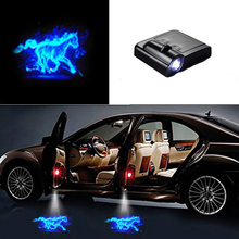 Universal Wireless LED Shadow Projector Courtesy Step Lights Welcome Lights Cars Door Shadow Light Laser Emblem Lamps Kit