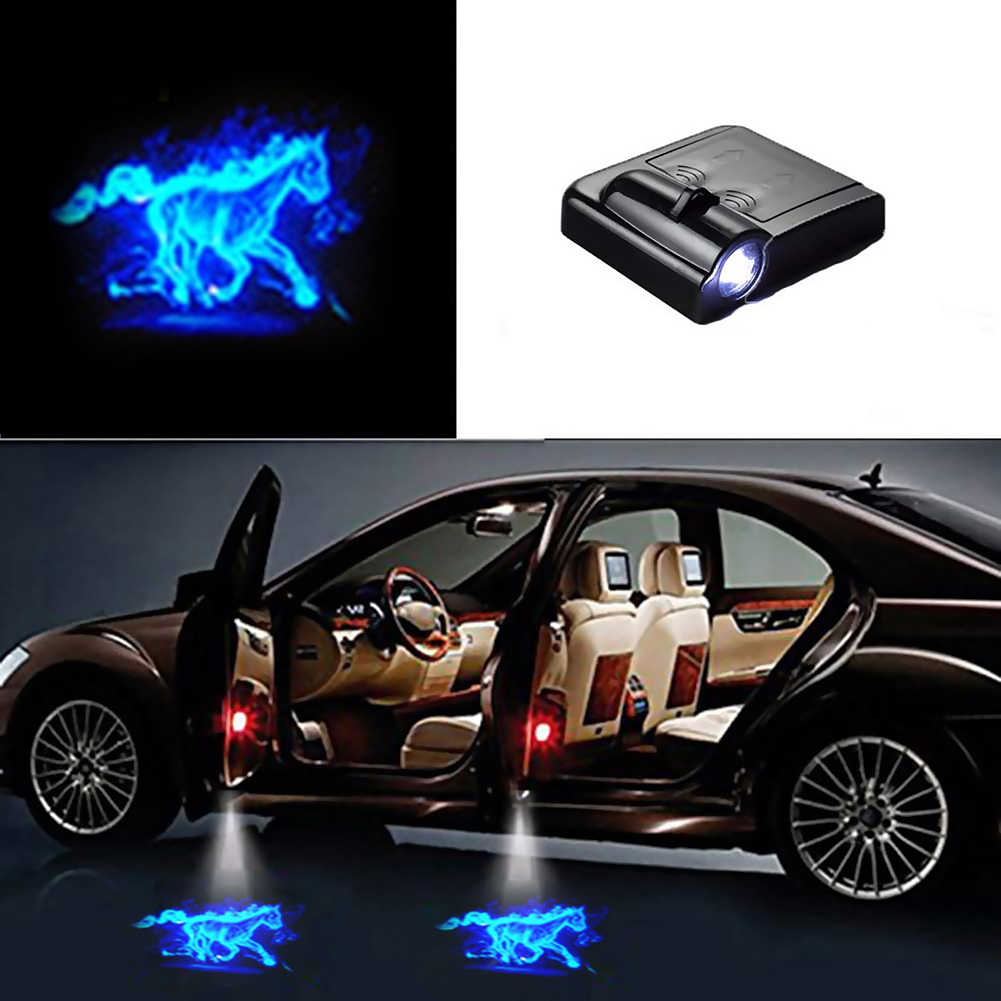 1 Cái Không Dây Đa Năng Đèn LED Bóng Máy Chiếu Lịch Sự Bước Đèn Hoan Nghênh Bạn Đã Đèn Xe Ô Tô Cửa Bóng Đèn Laser Hiệu Đèn Bộ