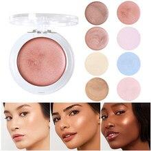Phoera 1pc iluminação rosto highlighter creme shimmer contorno maquiagem destaque 8 cores iluminar rosto brilho bronze tslm2