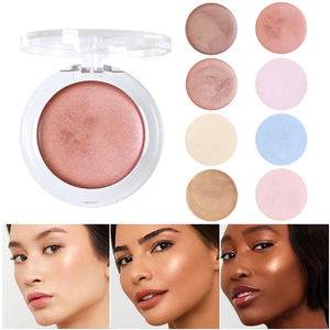 PHOERA 1PC Illumination Face Highlighter Cream Shimmer Contouring Makeup Highlight 8 Colors Brighten Face Glow Bronze TSLM2