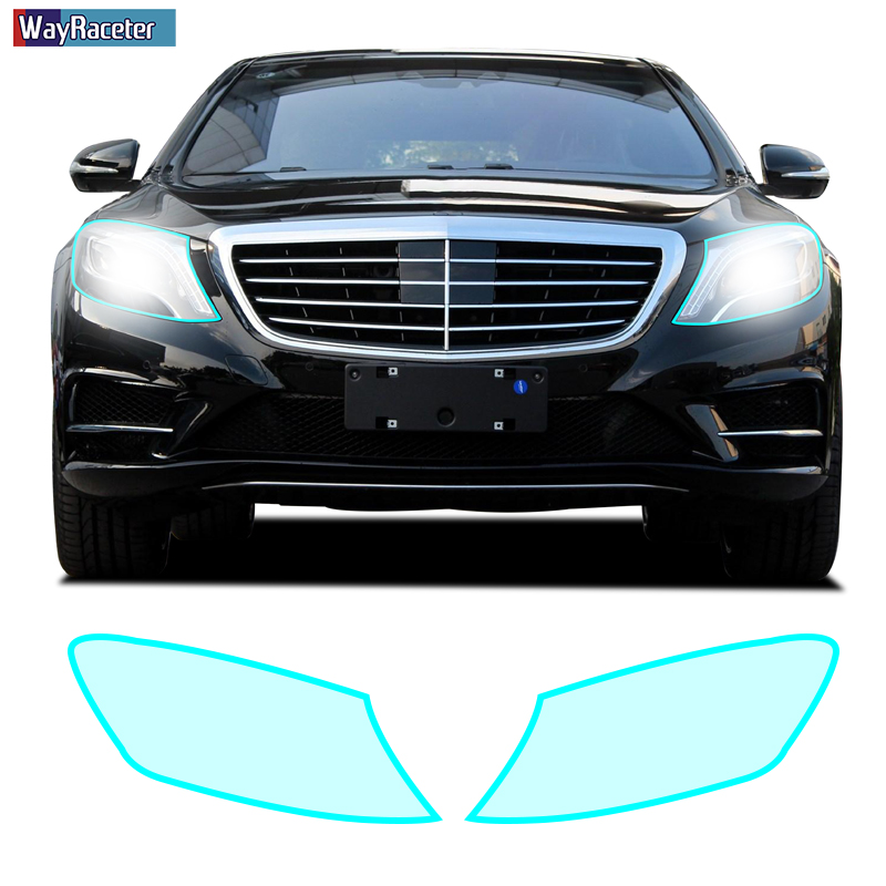 Self Healing Sticker Car Headlight Taillight Insivible Protective Film For <font><b>Mercedes</b></font> Benz S Class W222 <font><b>S500</b></font> S400 C217 <font><b>Accessories</b></font> image