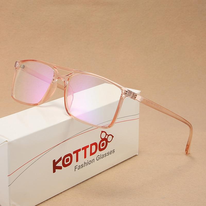 Eyeglasses Frame Square Women Clear Lens Optical Myopia Plastics  Eyewear For Men Okulary