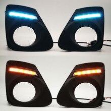 도요타 Corolla 2011 2012 2013 DRL 주간 러닝 라이트 일광 안개 램프 커버에 대 한 1Pair LED 깜박이 자동차 차례 신호 램프
