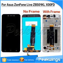 Tested Quality LCD Display For Asus ZenFone Live ZB501KL X00FD LCD Display Screen With Touch Screen Assembly ZB501KL LCD for asus s400 touch lcd assembly b140xw03 14 0 lcd assembly fully tested free shiping