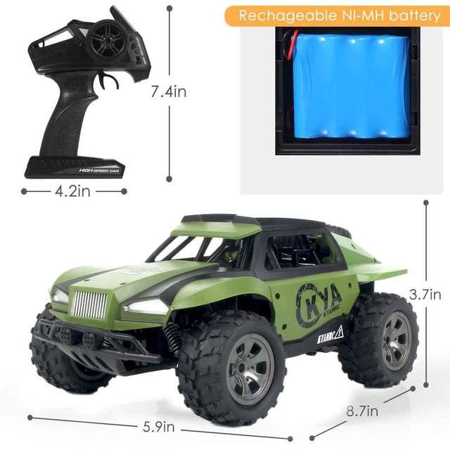 High Speed 60km/h RC Racing Car Trucks 1:18 2WD 2.4G Radio Control RC Car remote control car Off-Road boys Toys for Children 4