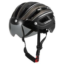 2020 kask rowerowy ze zdejmowanymi okularami przeciwsłonecznymi sport Ultralight górski rower szosowy z Taillight In-mold kask do roweru górskiego