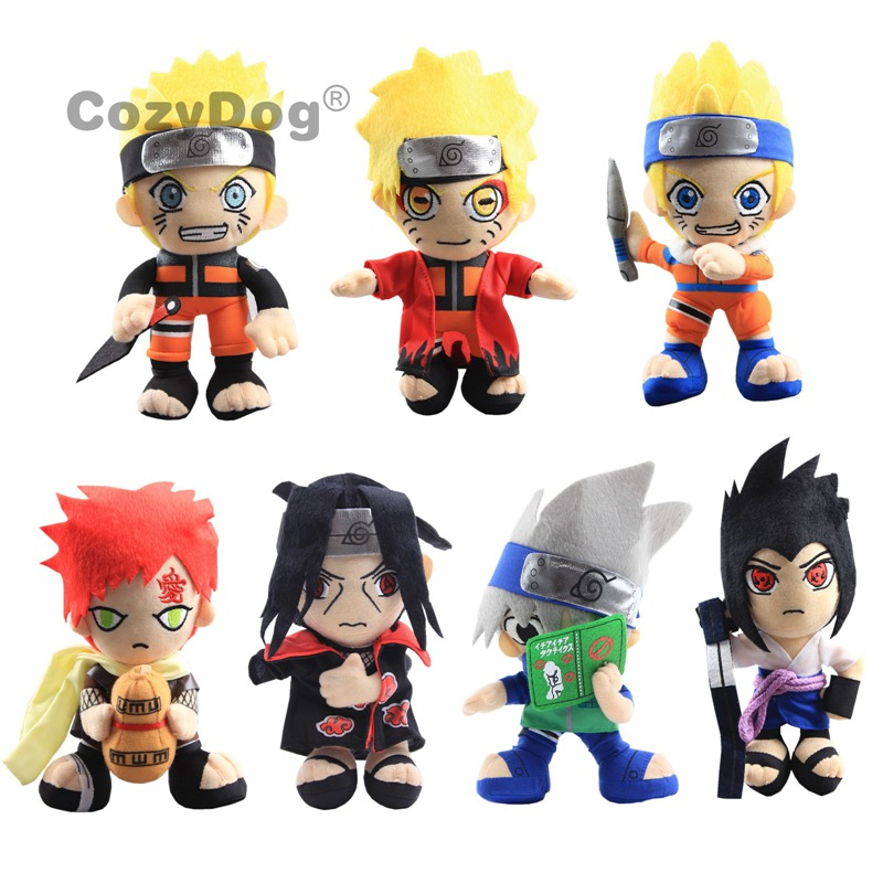 "8""20cm Cartoon Naruto plush toys doll Anime Uchiha Sasuke Gaara Uchiha itachi Soft Stuffed Dolls Figure Children Birthday Gift"