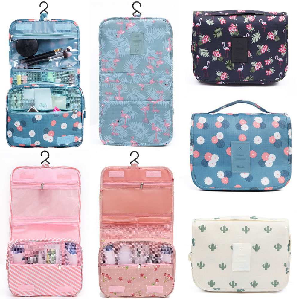 Portable Durable Travel Makeup Cosmetic Toiletry Case Organizer, Storage Hanging Pouch
