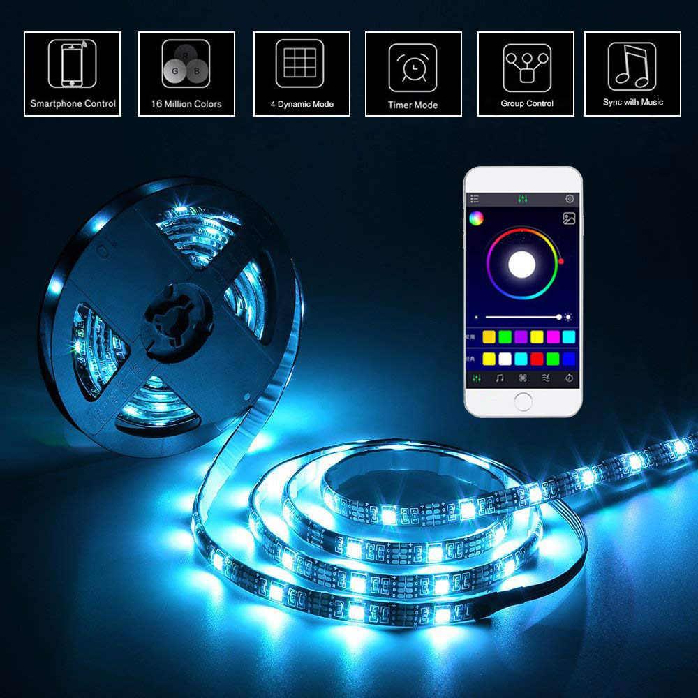 USB قطاع الطاقة LED تحت خزانة مصباح إضاءة LED خفيف خزانة المطبخ الخلفية التلفزيون 1 متر 2 متر 3m RGB الشريط عن بعد خزانة مصباح الليل 5 فولت