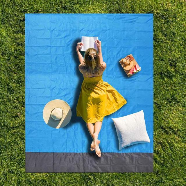 2*2M Portable Picnic Mat Waterproof Beach mat Pocket blanket Outdoor Camping Tent Ground Mat Mattress Outdoor Camping Picnic Mat 4